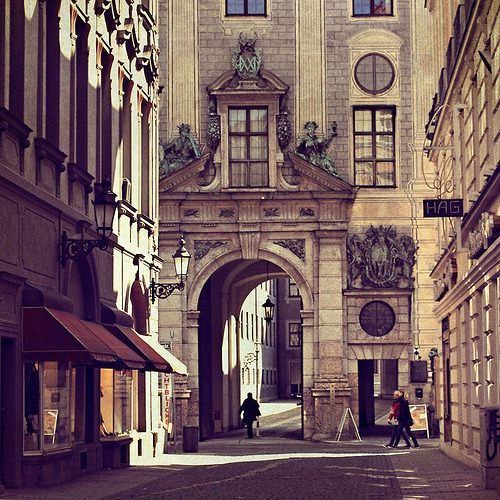 Archway Street, Rome, Italy