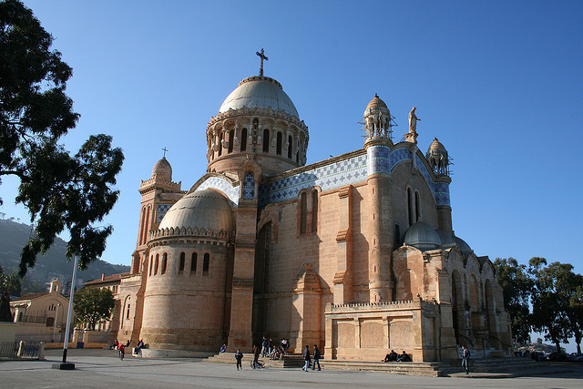 Basilique Notre-Dame d'Afrique, Algiers - Algeria. The basilica was inaugurated in 1872, after fourteen years of construction.