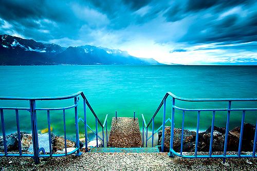 Winter, Lake Leman, Switzerland