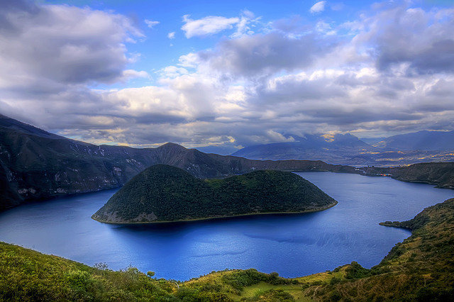 Laguna Cuicocha is a 3 km wide caldera and crater lake at the foot of Cotacachi Volcano in the Cordillera Occidental of the Ecuadorian Andes. Its name comes from...