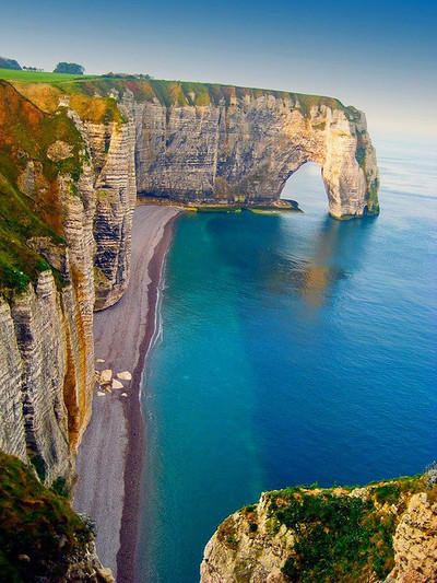 Shades of Blue, Etretat, Upper Normandy, France