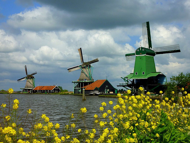 by frans.sellies on Flickr.Windmills in Zaandijk - The Netherlands.