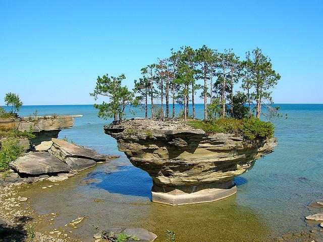 by timmerschester on Flickr.Turnip Rock - Port Austin, Michigan.