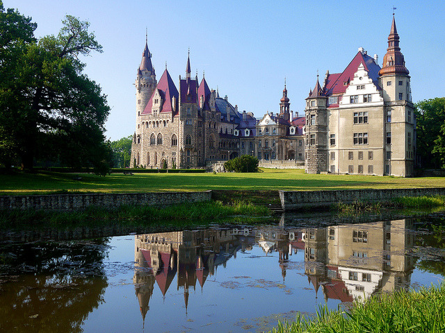 by radimersky on Flickr.Moszna castle - one of the best known monuments in the western part of Upper Silesia, Poland.