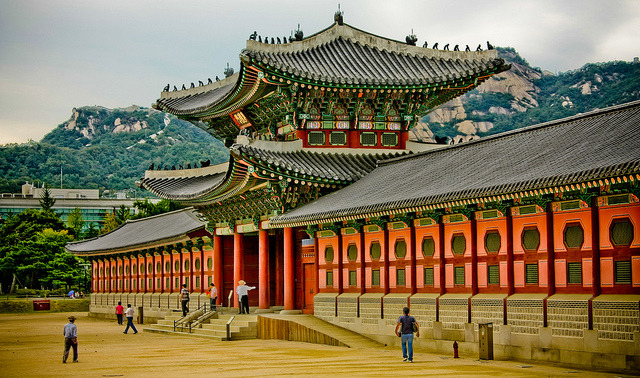 by Orgiles on Flickr.Gyeongbokgung Palace - royal palace in Seoul, South Korea.