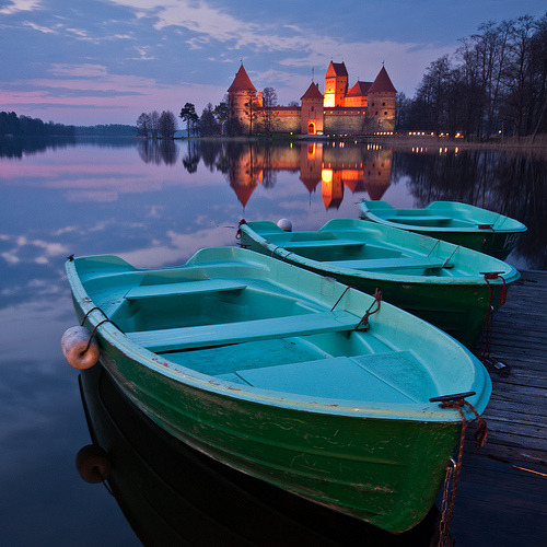 Lake Castle, Trakai, Lithuania