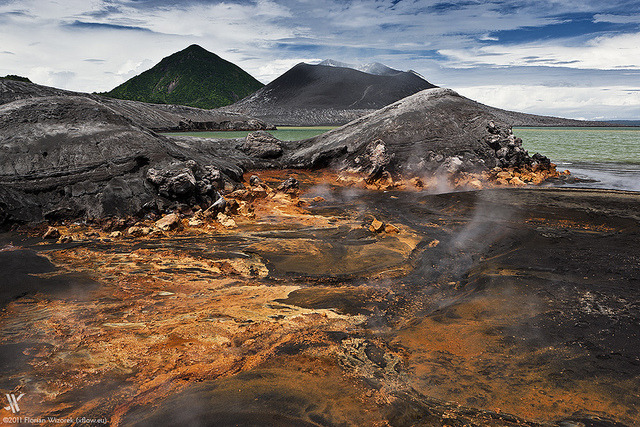 by xflo:w Berlin on Flickr.Hot Springs near Tavurvur volcano - Rabaul Caldera, Papua-New Guinea.