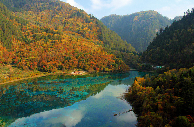 by Bryan Chang on Flickr.Jiuzhai Valley in Jiuzhaigou National Park, Sichuan province, China.