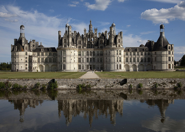by pe_ha45 on Flickr.Reflections of Chateau de Chambord in Loire Valley, France.