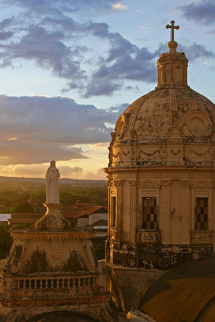 by eliciaire on Flickr.View from the Bell Tower, Iglesia de la Merced, Granada, Nicaragua.