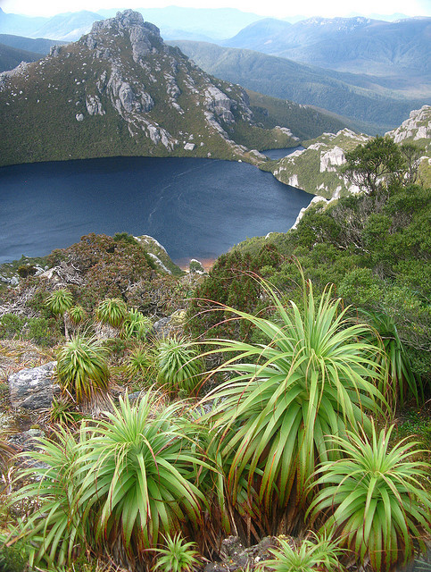 by jeffkmiller on Flickr.A classic view of Lake Oberon, in the Western Arthur Range, southwest Tasmania.