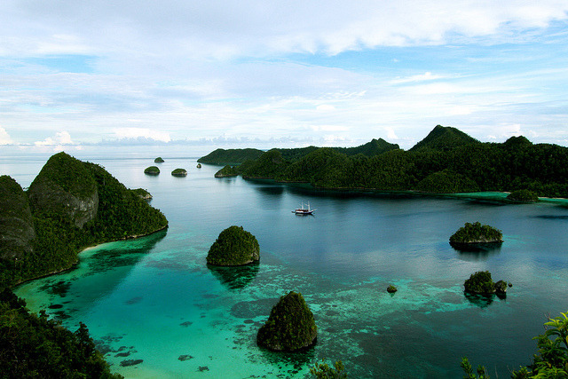 by parvita on Flickr.Beautiful view of Wayag Bay in Raja Ampat Islands, Indonesia.