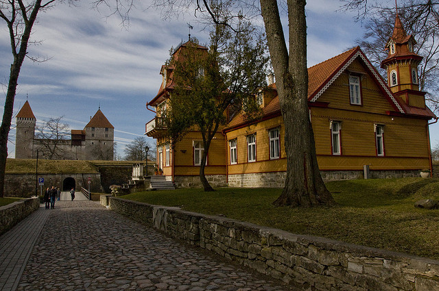 by mustlane on Flickr.Entrance to Kuressaare Castle in Saaremaa island, Estonia.