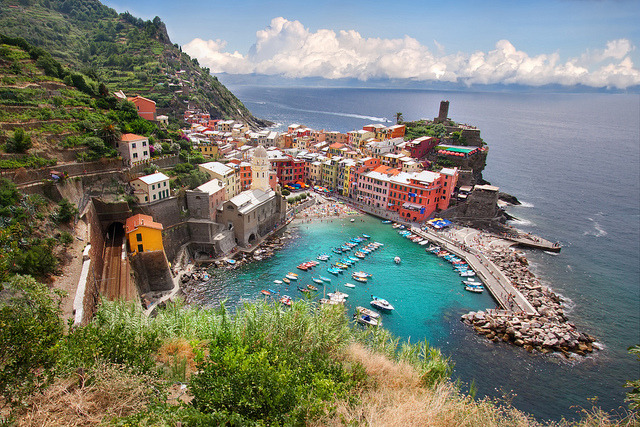 by WanderingtheWorld on Flickr.Another beautiful view of Vernazza on Cinque Terre Riviera, Italy.