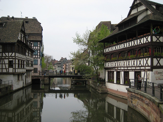 by sigfus.sigmundsson on Flickr.Canal view in Strasbourg, Alsace, France.