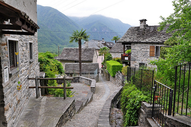 by ritsch48 on Flickr.The village of Gordevio in Vallemaggia, Ticino canton, Switzerland.