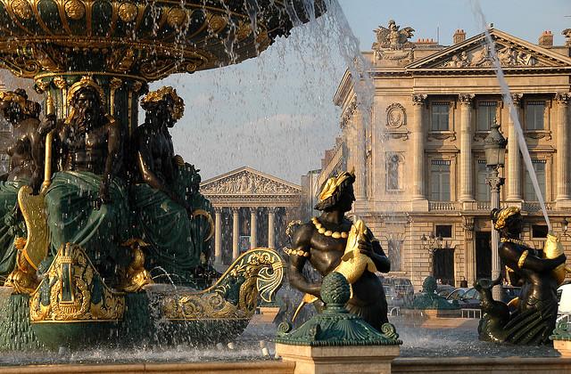 by R.Duran on Flickr.Beautiful fountain in Place de la Concorde, Paris, France.
