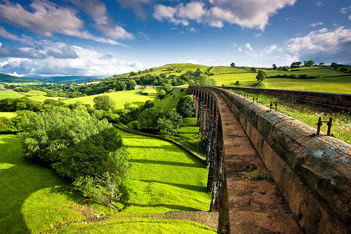 Narrow Walkway, Lowgill Viaduct, Cumbria, England