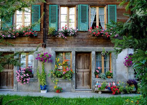 Floral Entry, Lauterbrunnen, Switzerland