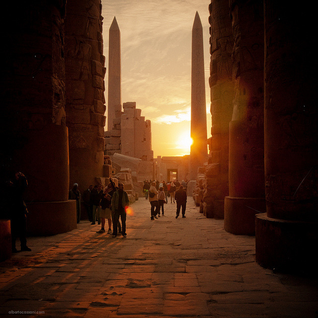 Sunrise at Karnak Temple in Luxor, Egypt