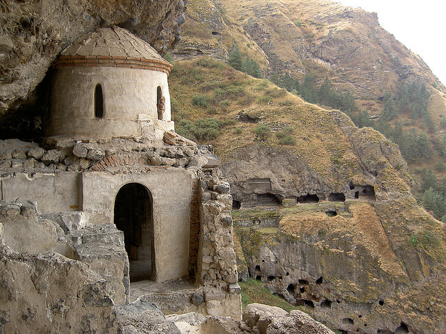 The cave monastery of Vanis Kvabebi, near Aspindza, Georgia