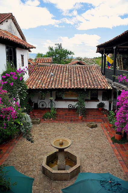 Beautiful houses in Villa de Leyva, Colombia