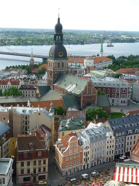 A birdview of Riga, Latvia