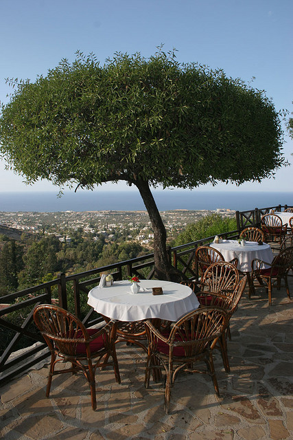 The Kybele Restaurant at Bellapais Monastery, Kyrenia, Northern Cyprus