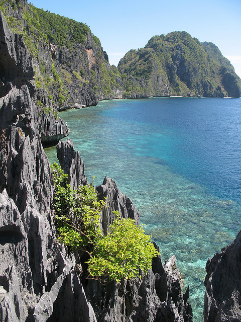 Limestone cliffs in Bacuit Archipelago, Philippines
