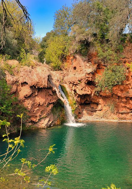 Pego do Inferno waterfall near Tavira in southern Portugal