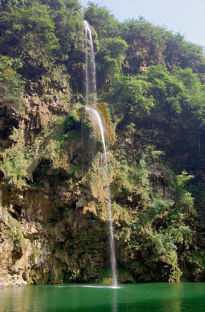 Waterfall on Wuyang River, Guizhou Province, China