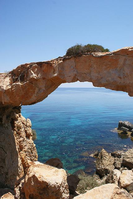 The natural bridge near Protaras, Cyprus