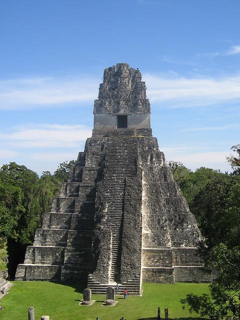 Grand Jaguar Pyramid at Tikal mayan ruins, Guatemala