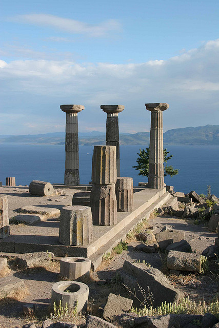 Temple of Athena in Assos, Turkey