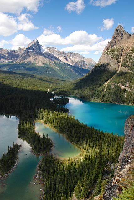 Mary and O'Hara Lakes in Yoho National Park, Canada