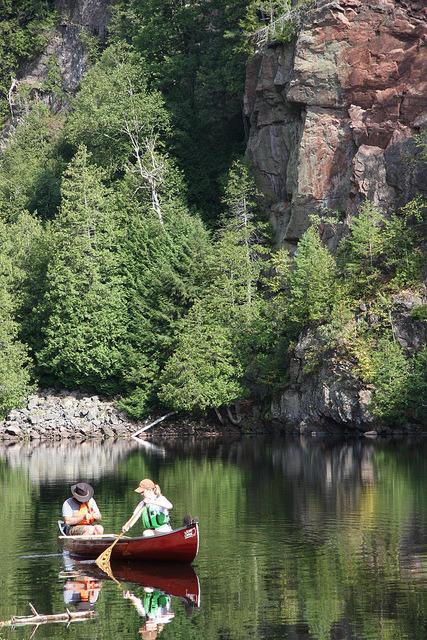 Canoeing in Barron Canyon, Ontario, Canada