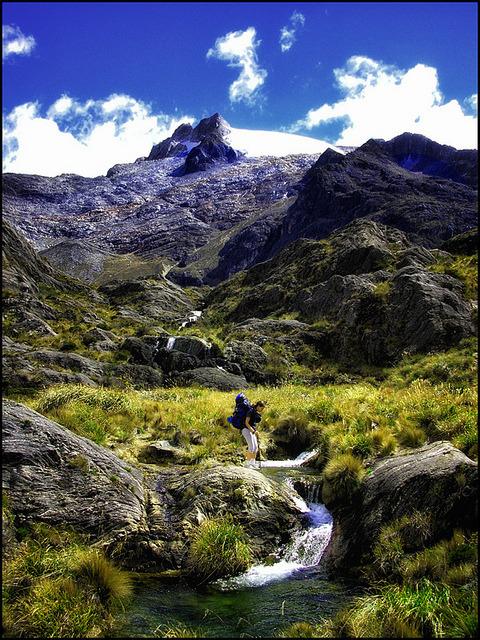 On the way to Laguna Verde, base camp of Pico Humboldt , Venezuela