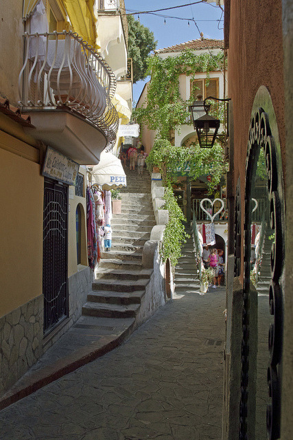 Via die Mulini in Positano, Amalfi Coast, Italy