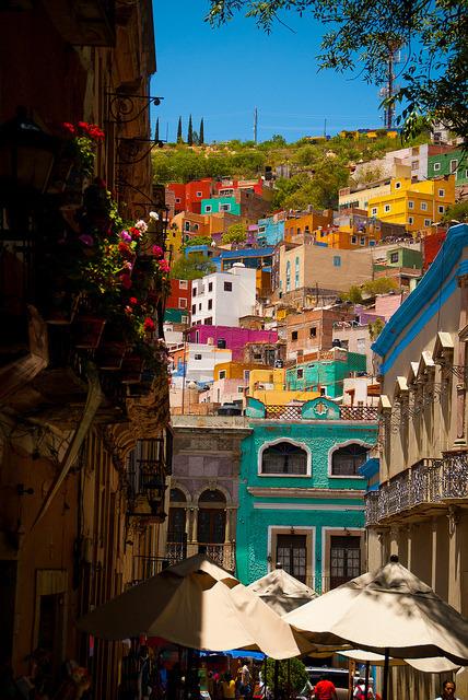 Colorful streets of Guanajuato, Mexico