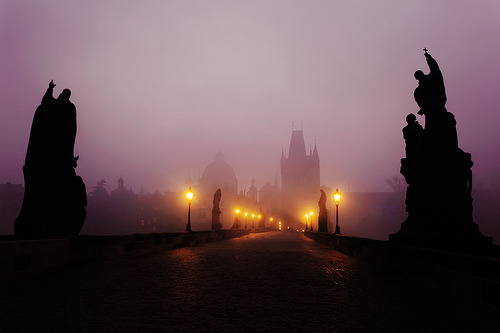 Fog at Dusk, Prague, Czech Republic