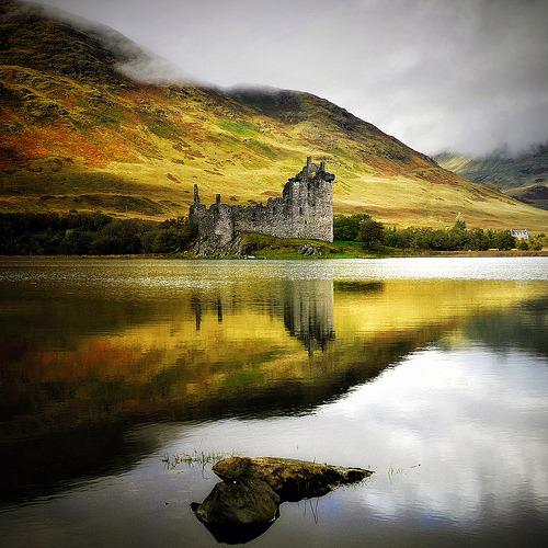 Loch Castle, Ford, Scotland