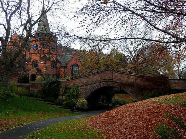 Autumn in Port Sunlight village, Liverpool, England