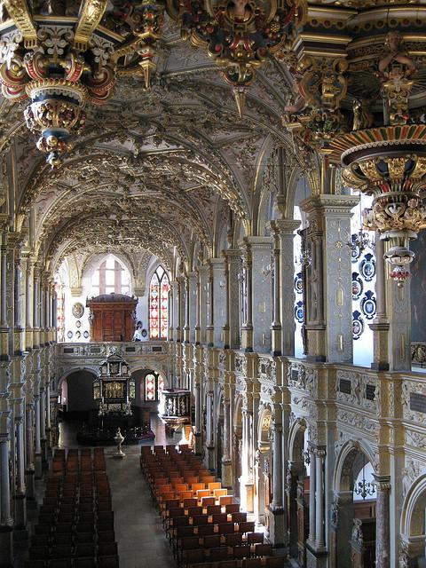 The impressive baroque chapel at Frederiksborg Castle, Denmark