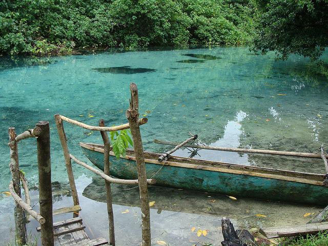 visitheworld:Idyllic spring-fed Riri Riri river in Espiritu Santo Island, Vanuatu