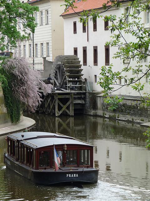 Boat tour along the Vltava River in Prague, Czech Republic