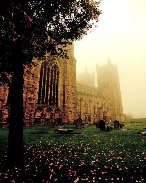 Foggy, Durham Cathedral, England