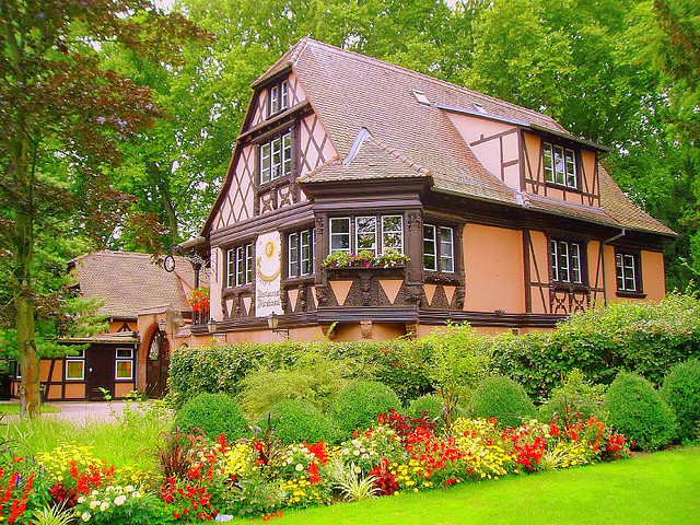 House garden in Strasbourg, France