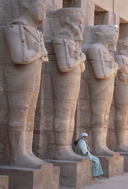 The guardians of Karnak Temple in Luxor, Egypt