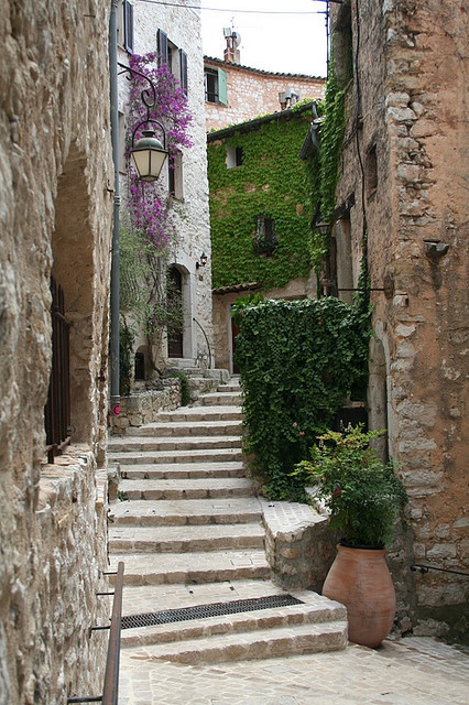 Medieval streets in Tourrettes sur Loup, Alpes-Maritimes, France