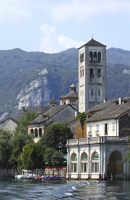 Isola di San Giulio on Lago d'Orta, Piemonte, Italy